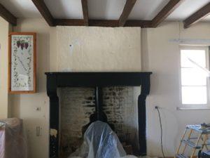 Ancienne cheminée noir